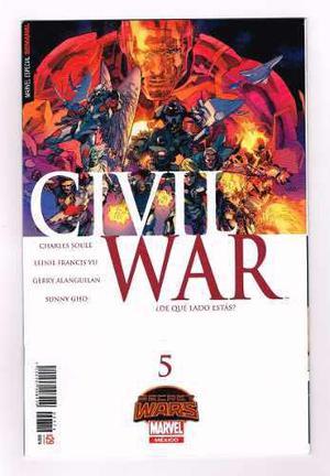 Civil war # 5 - secret wars - editorial televisa