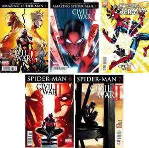 Marvel comics civil war 2 ii amazing spider-man 1 2 3 spider