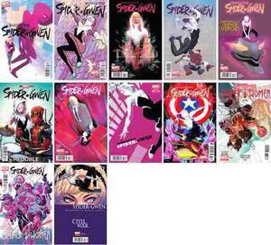 Marvel comics spider gwen 2 3 4 6 9 10 spider women all new