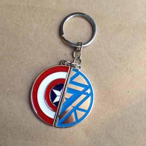 Par de llaveros civil war iron man capitan américaamerica