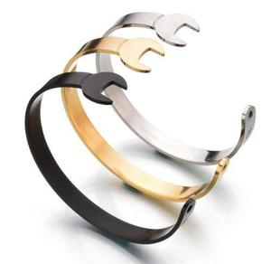 Bangle brazalete pulsera llave inglesa acero inox h3007