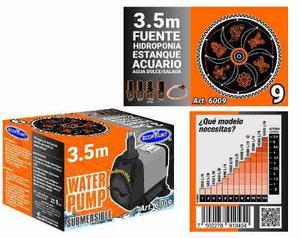 Bomba de agua sumergible acuarios fuentes 3.50 m 6009