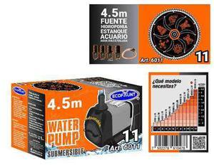Bomba de agua sumergible acuarios fuentes 4.50 m 6011