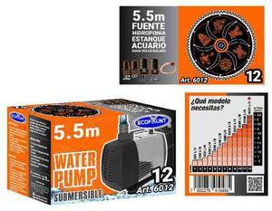 Bomba de agua sumergible acuarios fuentes 5.50 m 6012