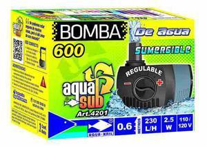 Bomba de agua sumergible aquakril 0.6m. 230 l/h 2.5w 4201