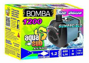 Bomba de agua sumergible aquakril 600 l/h 1.2m 4209
