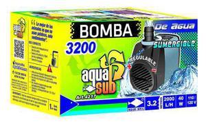 Bomba de agua sumergible aquasub 2000 l/h 3.2m 40 w 4217