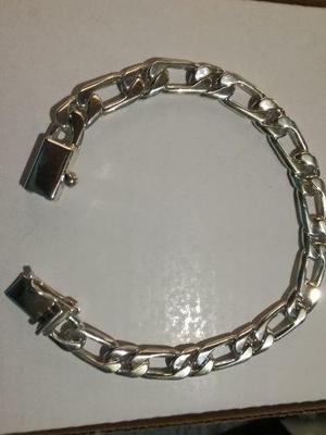 49161d39b15f Cadena pulsera plata gruesa caballero barbada cubana