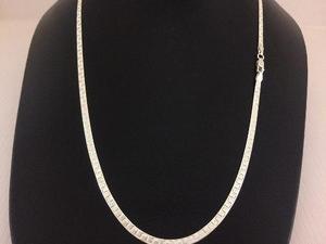 0ff3dc013e61 Gargantilla cadena planchada plata 925 7gr 50cmx3mm gp06