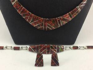 J2 hermoso collar pulsera aretes plata 925 con piedra opalo