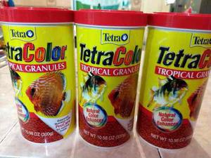 Lote 3 tetracolor tropical granulos 300gr alimento peces