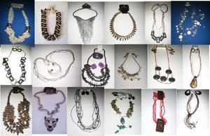 79ee9c72d058 Lote collares aretes pulseras bisutería mujer 39 piezas dhl