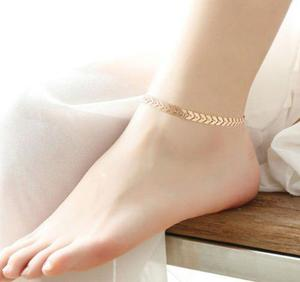 Pulsera de tobillo dorada o plateada 25 cm