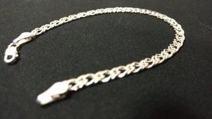 500d6b4ddd0c Pulsera pulso de plata 925 tejido doble mujer hombre unisex en ...