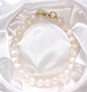 773992f63166 Pulsera y aretes con perlas grandes cultivadas a028 en México ...