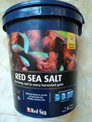 Sal marina red sea para acuarios de 210 litros