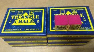 Tiza para taco de billar triangle caja de 12