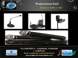 Microfonos lavalier en renta
