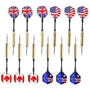 12 piezas (set 4) acero aguja punta de dardo dardos con-1065