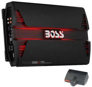 Amplificador clase d 5000 watts con led y control boss audio
