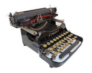 Antigua máquina escribir corona plegable colección vintage