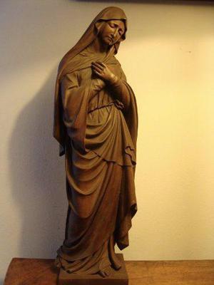 Antigua talla en madera de virgen dolorosa de origen alemán