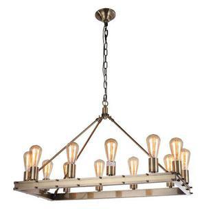 Candil rectangular 12 luces antiguo edison vintage lampara