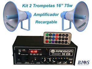 Kit para perifoneo publidifusion radson amplificador trompet