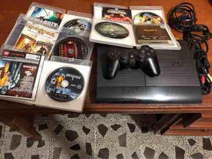 Ps3 250 gb y 5 videojuegos.
