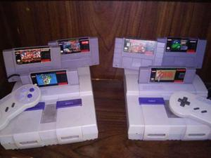 Snes juegos street fighters 1 y 2,,,,consola y controles