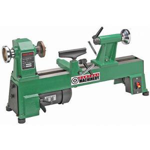 10 x 18 pulg torno de madera de mesa de 5 velocidades 1/2 hp