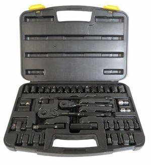 Autocle juego herramientas stanley 37pz cromo negro