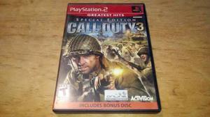 Call of duty 3 special edition ps2 pregunta por precio bajo