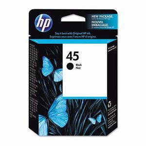 Dual pack cartucho de tinta negro hp 51645al no. 45 original