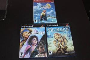 Final fantasy x, x-2 y xii playstation 2 completos. ps 2 ps2