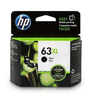 Hp 63xl f6u64an cartucho de tinta original negro