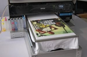 Impresora de playeras dtg p600 tinta blanca cama plana