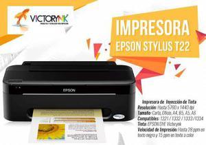 IMPRESORA EPSON T22 +CARTUCHO RELLENABLE + GRATIS TINTAS segunda mano  México (Todas las ciudades)