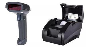 Impresora termica de 57 mm y lector inalambrico pos