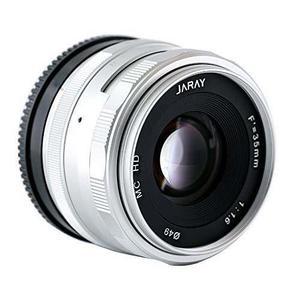 Jaray moda plata de 35 mm f 1.6 principal fijo lente compact