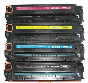 Kit 4 toner hp 131a color laserjet pro 200 m251 m276