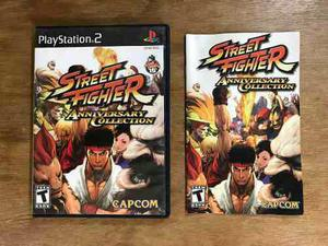 Street fighter anniversary collection completo playstation 2