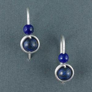 d75aa9a231fa Arete plata 999 perlas lapislázuli