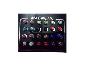 3e8dcd053e49 Aretes cristal colores iman falsa perforacion envio envío en México ...