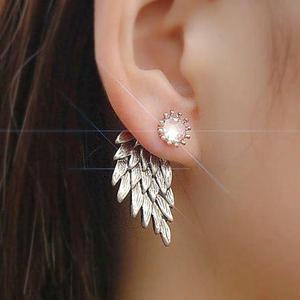 Aretes de alas, color plata, angel, moda amor, regalo