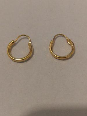 99d96990595c Arracadas de oro laminado de 1 cm de diámetro para bebe en México .
