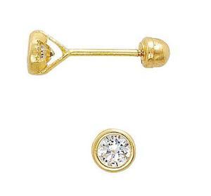 ac53c35be654 Broqueles troquelados para bebé oro de 10k mod. 461
