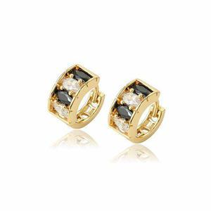 5548c4e44db0 Elegantes arracadas de oro lam zirconias calidad diamante en México ...
