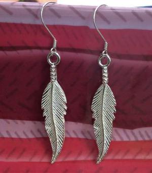 de88b1a552ec Joyeria aretes de pluma grande de india en plata ley.925 en México ...