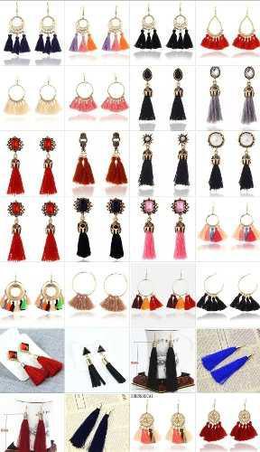 fe13dd97f926 Mayoreo bisuteria moda accesorios aretes de borla motitas en México ...